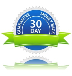 30 days money back guarantee vector image