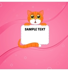 card with kitten vector image