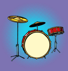 drum set musical instrument vector image
