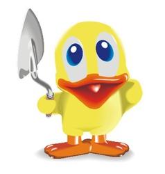 Duck with trowel vector
