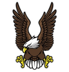 eagle with spreaded wings vector image vector image