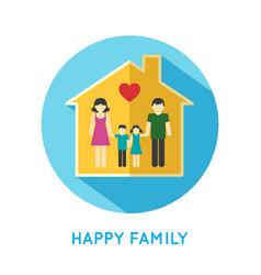 Family icon home vector