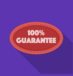 Guarantee label icon in flat style isolated on vector