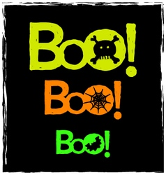 Halloween boo neon graphics on a black background vector