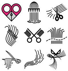 logo icons barbershop vector image