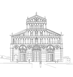Sketch of Pisa Cathedral vector image
