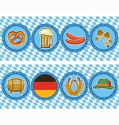 beer elements with oktoberfest symbol labels vector image vector image