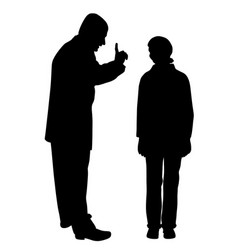father scolds his scared teenage daughter vector image vector image