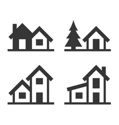 home icons set for real estate logo vector image vector image