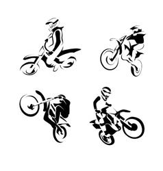 Off road sport Motorcycle vector image