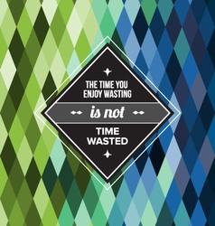 Seamless Geometric Pattern Time Wasted vector image vector image