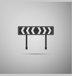 traffic sign road road block sign vector image vector image