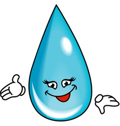 Water drop cartoon vector image