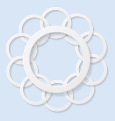 abstract 3d circles on blue background vector image