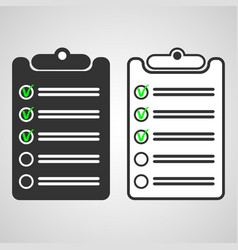 black list and white list vector image vector image
