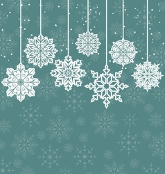 Christmas background with variation snowflakes vector image vector image