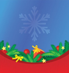 colorful christmas background with tree brunches vector image vector image