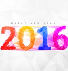 creative low poly 2016 happy new year design vector image vector image