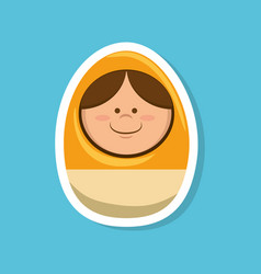 egg with face toy vector image