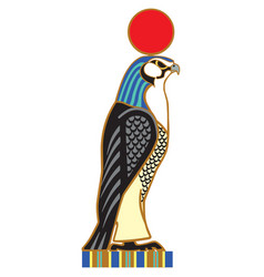 egyptian falcon horus vector image