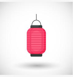 lantern flat icon vector image vector image