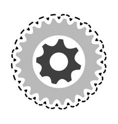 single gear icon image vector image vector image