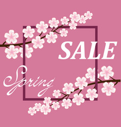 spring sale poster background vector image