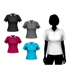 T-shirts female set vector image vector image