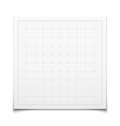 White isolated square grid with shadow vector image vector image