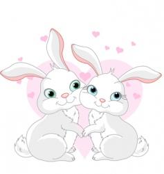 cartoon bunnies vector image vector image