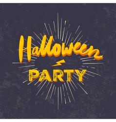 Halloween party invitation card grunge halloween vector