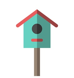 Nesting box or birdhouse vector image vector image
