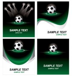 set soccer background vector image