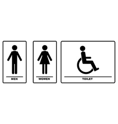 WC Signs Black Silhouettes vector image