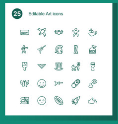 25 art icons vector