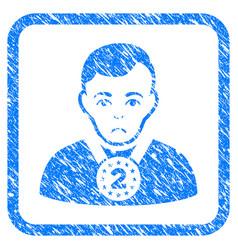 2nd prizer sportsman framed stamp vector