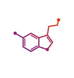 a serotonin model vector image