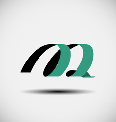 abstract icons based on the letter M vector image