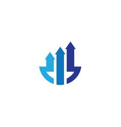 arrow logo business vector image