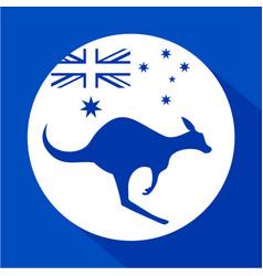 Australia kangaroo icon vector