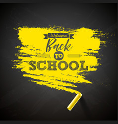 back to school design with chalk and typography vector image