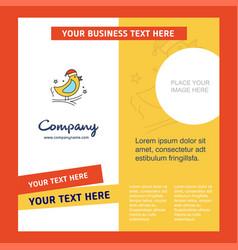 bird company brochure template busienss template vector image