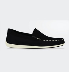 black loafer vector image