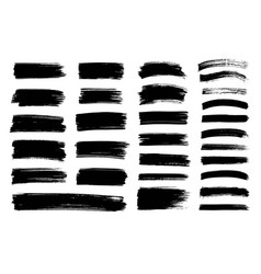 Black paint ink brush stroke texture vector