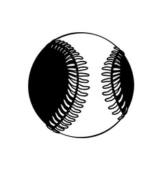 Black silhouette baseball ball element sport vector