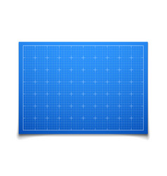 Blue isolated square grid with shadow vector image