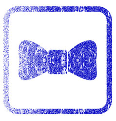 Bow tie framed textured icon vector