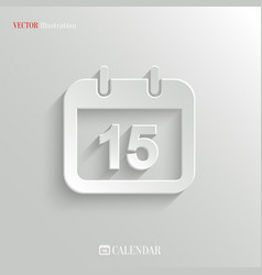 Calendar icon - web background vector