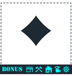 Cards suits icon flat vector