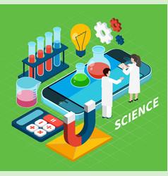 Chemistry isometric concept vector